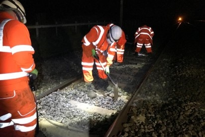 Railway work proceeds to keep vital lines open