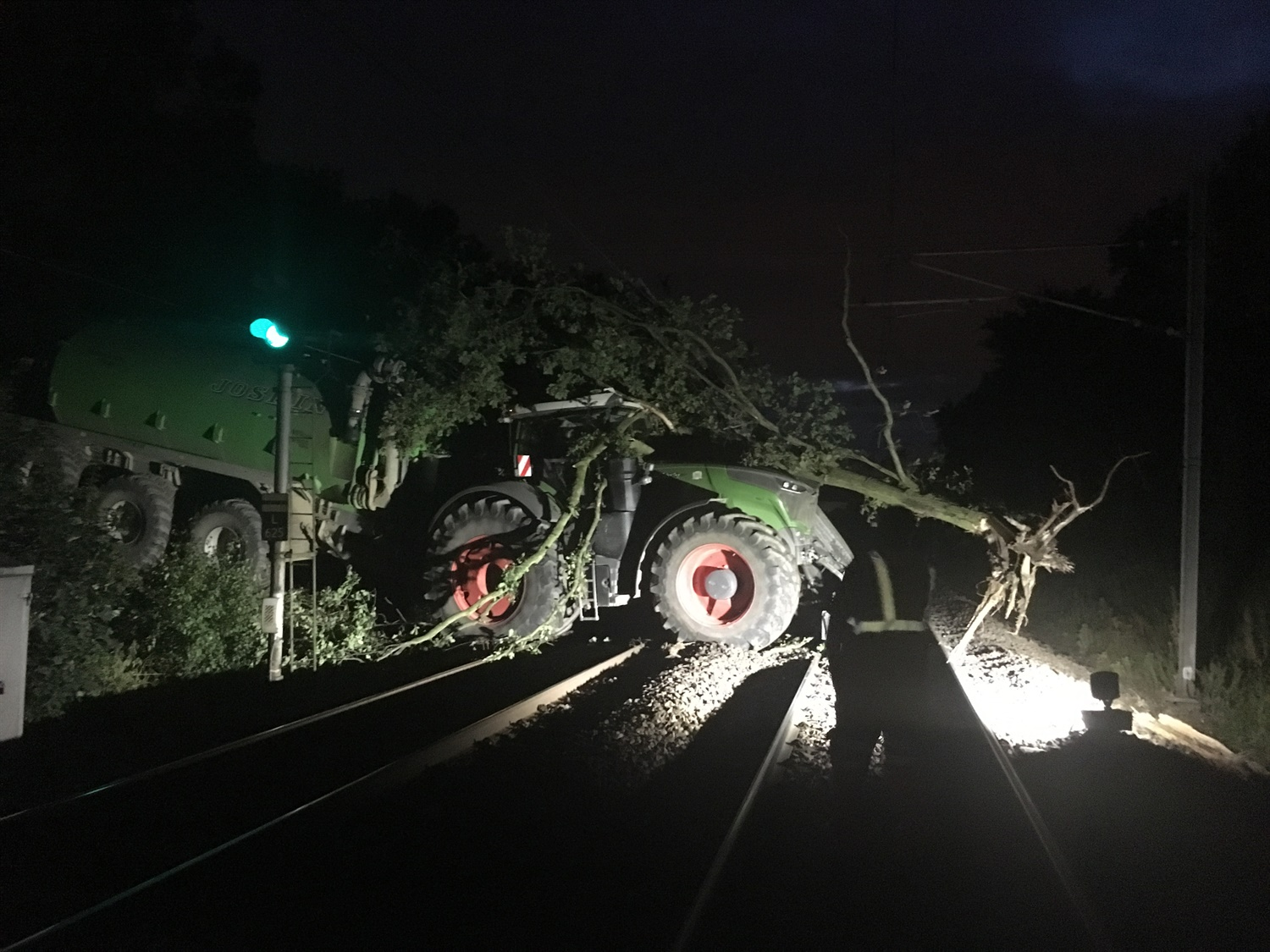Plough about that! Severe disruption in Yorkshire as tractor crashes onto train tracks