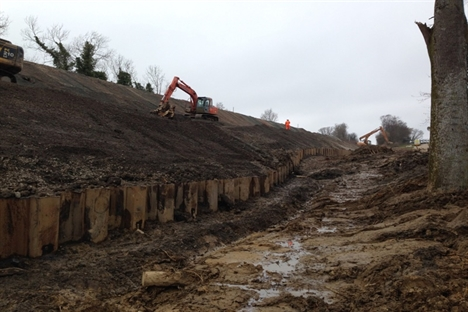 Further landslip delays repair work at Whatlington