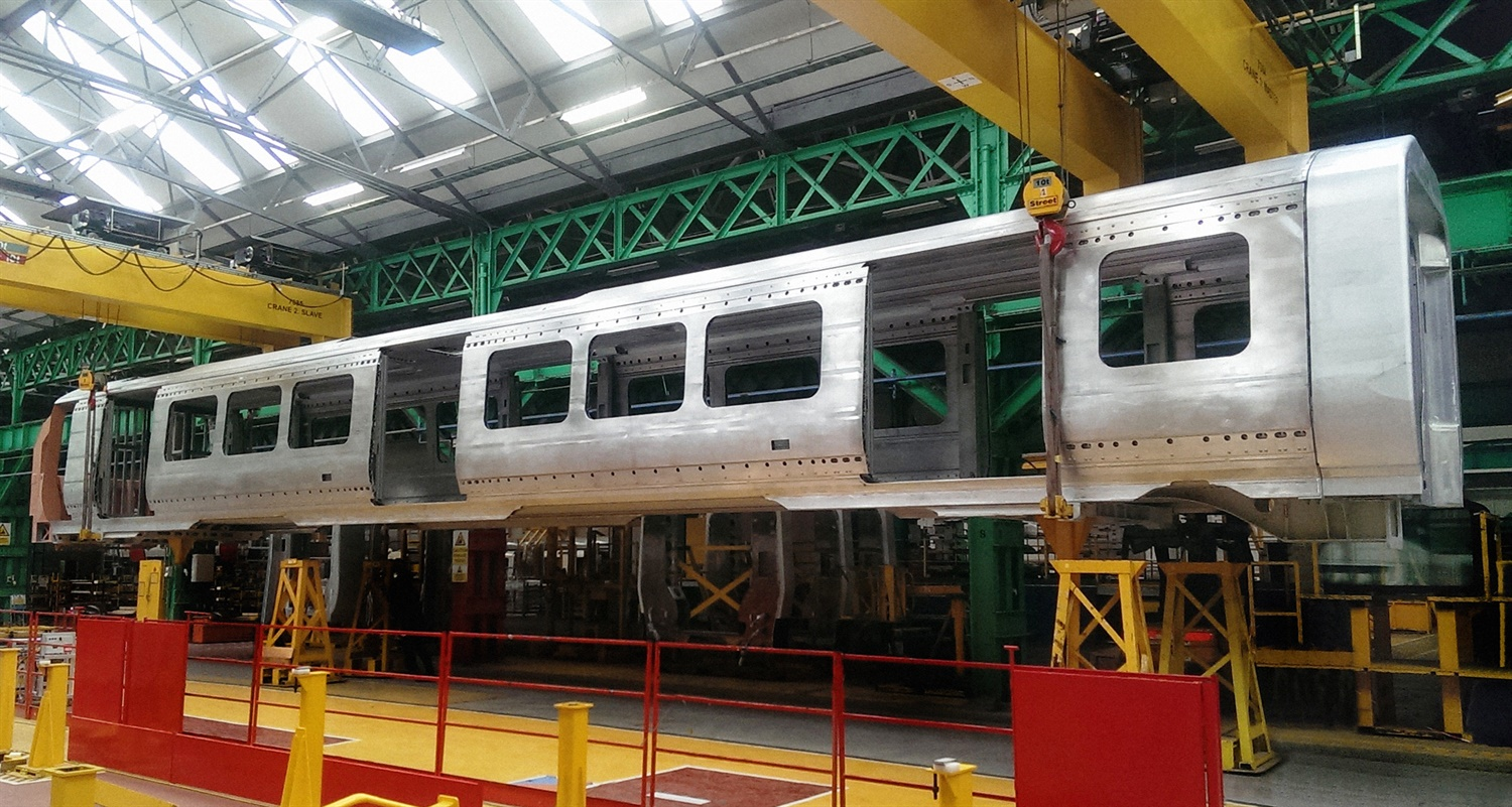 First Crossrail Aventra bodyshell completed at Bombardier plant