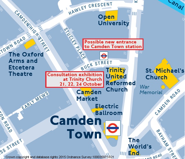 camden town station map