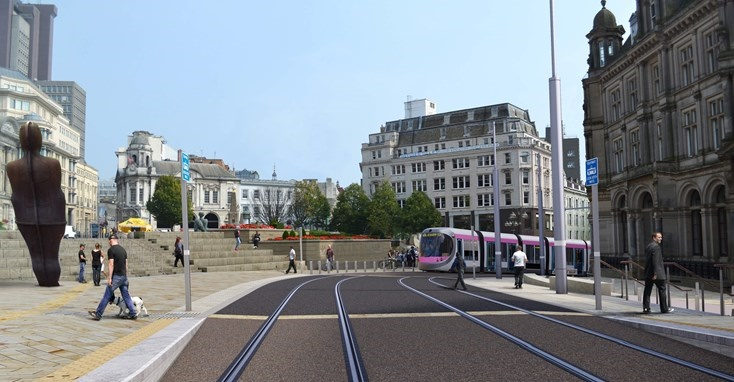 Midland Metro tram shipped to Spain for battery fit-out ahead of OLE-free operation