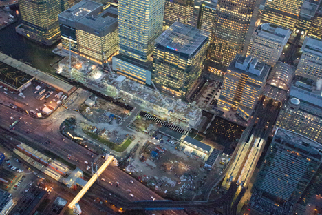 Canary Wharf station works continue