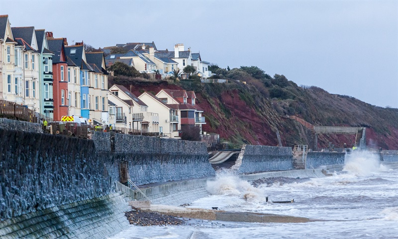 Railway crippled at Dawlish as town prepares for further storms
