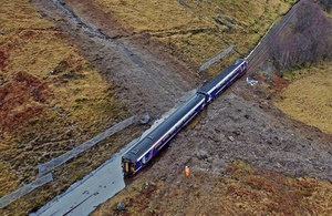 RAIB to investigate Scottish train which derailed following major landslip