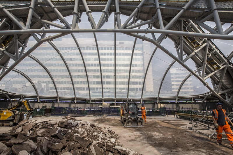 Work finishes on new roof for Birmingham New Street station