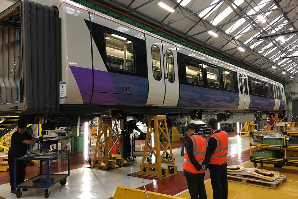 Crossrail minister rides train as electrification and testing milestones passed
