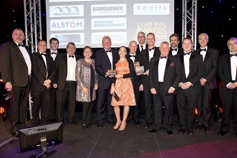 Triple success for Midland Metro at Light Rail Awards