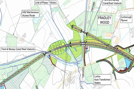 HS2 scraps canal viaducts near Lichfield in favour of tunnels