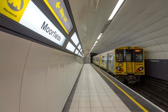 Wirral Line platform reopens after £12m Moorfields investment