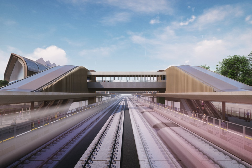 Work has begun on HS2's Interchange station site near Birmingham Airport