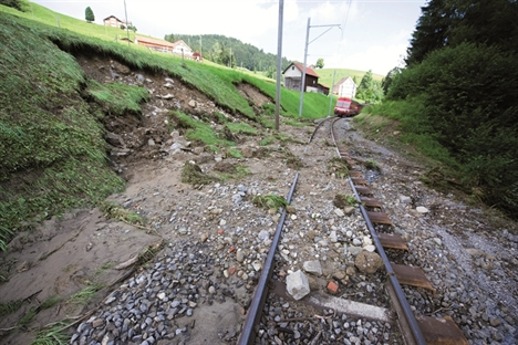 Protecting infrastructure against shallow landslides