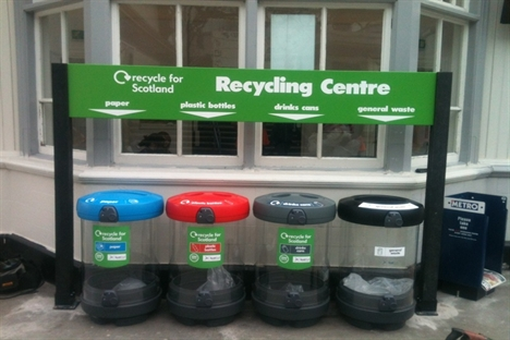 Recycling trial for ScotRail stations