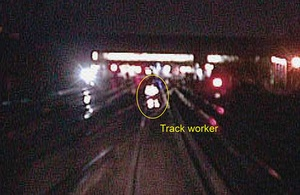 Investigation launched after track worker forced to dodge train with two seconds to spare