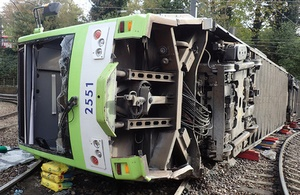 RAIB: Croydon tram driver had 'lost awareness' before fatal derailment