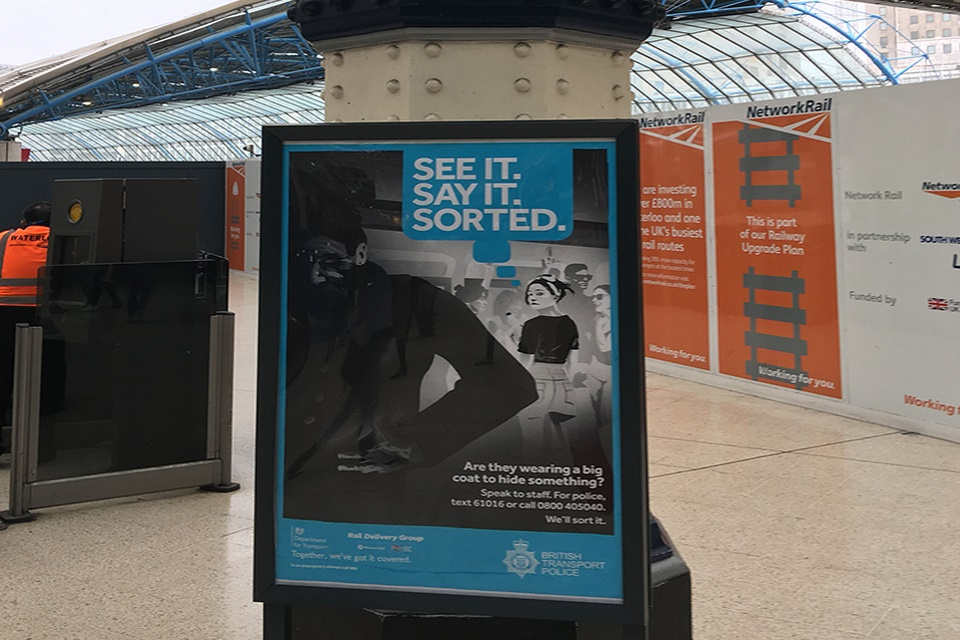 Rail safety campaign urges passengers to report any suspicious behaviour