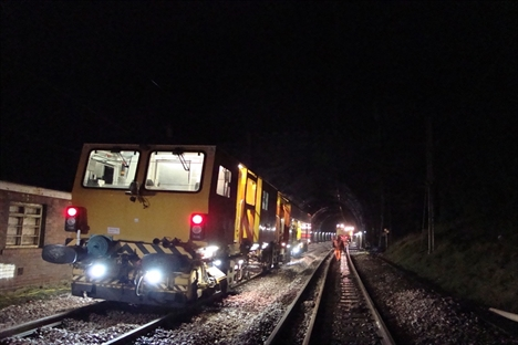 Shugborough Tunnel rail replacement complete