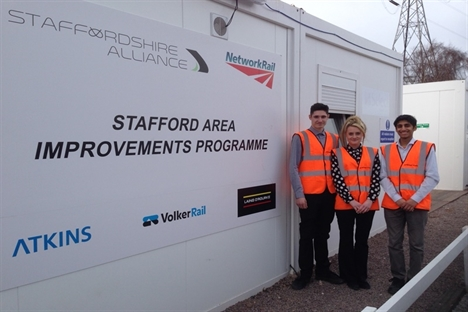 staffordshire alliance apprentices Jake Ashe Emily Davies and Sahil Aggarwal