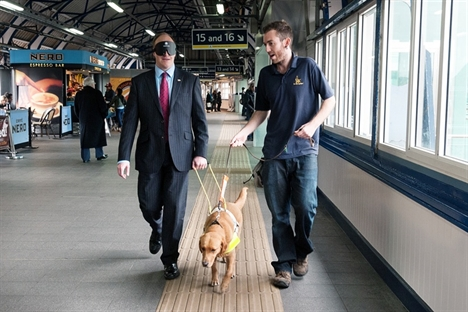 Tactile path for visually impaired passengers at Clapham Junction