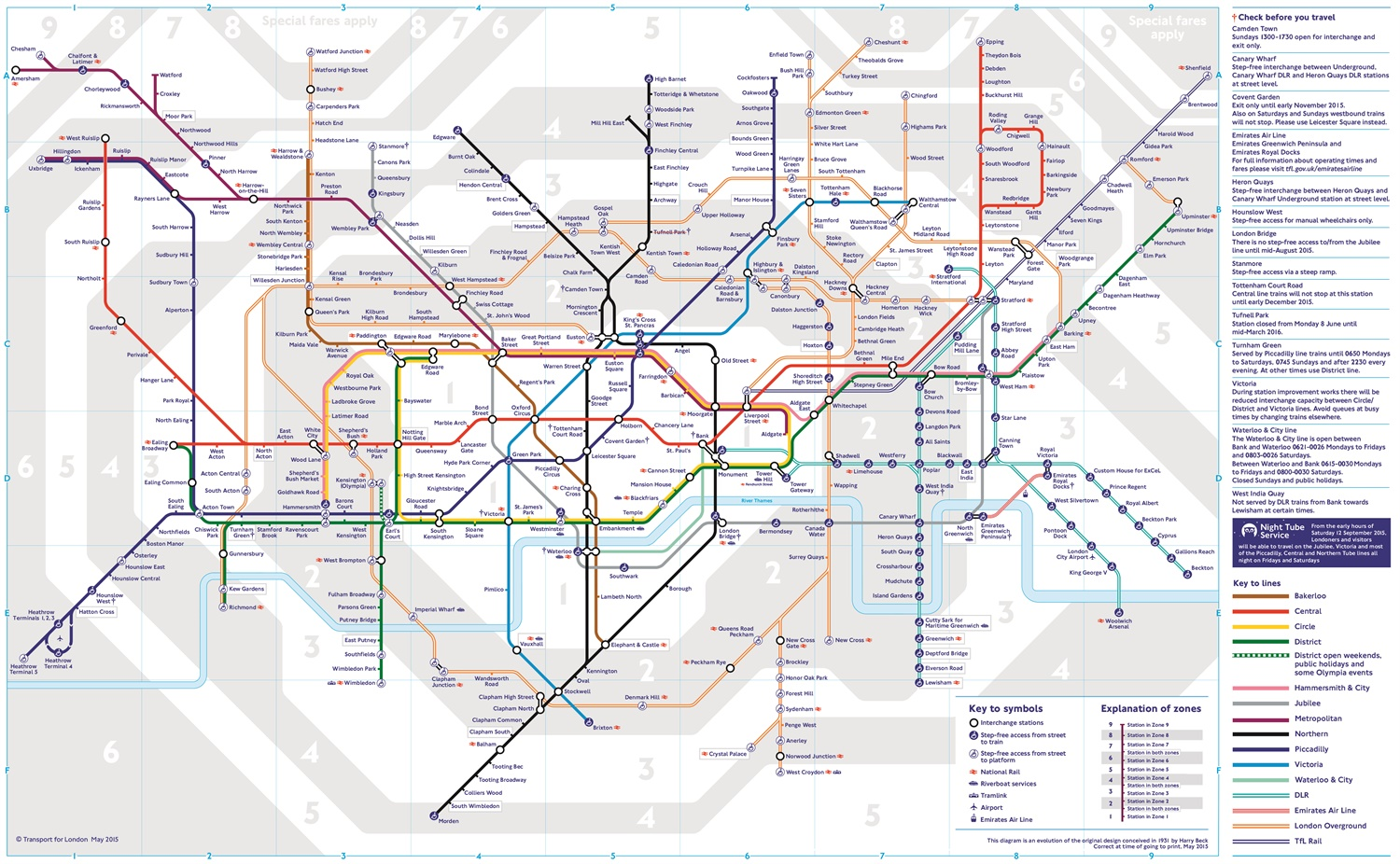New Tube map marks launch of TfL Rail