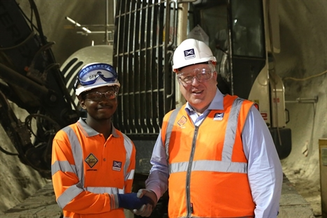 Young people grab work opportunities on Crossrail